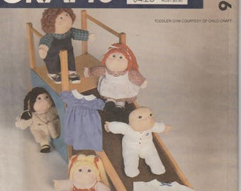 "Doll Clothes Pattern 16"" Soft Sculptured Doll Wardrobe  uncut  McCalls 9256"