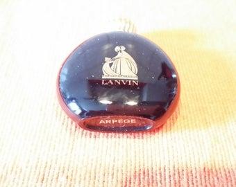 Old perfume miniature. bag LANVIN Arpege bottle