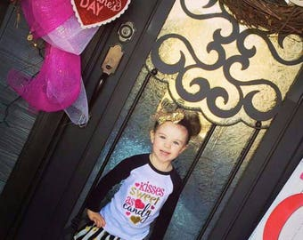 Valentine's Day~ Market Skirt~Black & White w/ Gold Polka Dots Custom Boutique Girls Skirt, Toddler Girls~Victoriasbliss