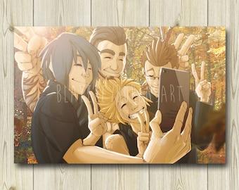 Final Fantasy XV Art Print [FFXV] - Chocobros