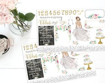 Anniversary planner stickers, *Choice of skintone * ECLP,, KikkiK, Filofax, Midori, Fauxdori