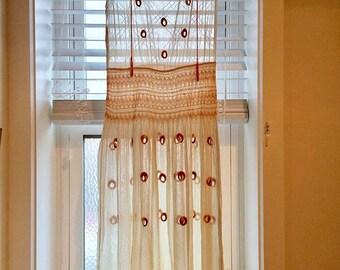 RARE!! 1920s Hungarian needlework peasant dress gauze cotton and silk