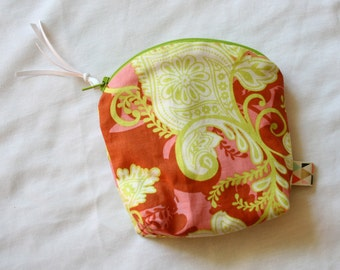 Discreet & Colorful Zip Pouch Essential Oil Holder--Coin Purse--Oil Storage--Zip Pouch Bag