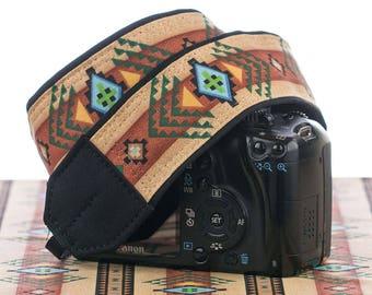 Camera Strap dSLR or SLR, Tribal, Southwestern, dslr camera strap,Native American Inspired, Canon camera strap, Nikon camera strap,  002