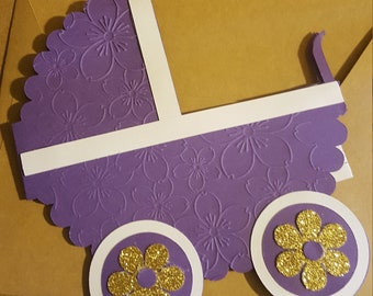 Baby Carriage Card Template