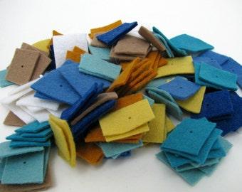 Wool and Hemp Garland Kit -- Seashore colors