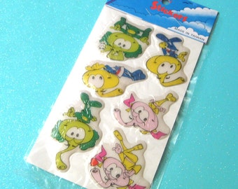Vintage SNORKS Puffy Stickers