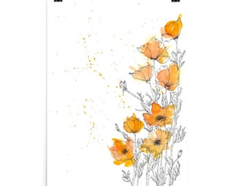 California Poppies Print