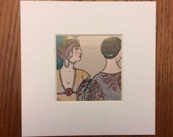 Art Deco Ladies (with matte)