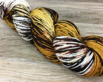 Tyger Tyger - Hand Dyed Variegated Speckled DK or Worsted Weight Yarn, Superwash Merino Nylon 4-ply