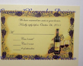 50 RSVP cards to match Invitations
