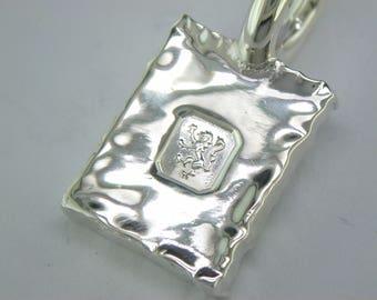 Silver Rectangular Tag. John Fox