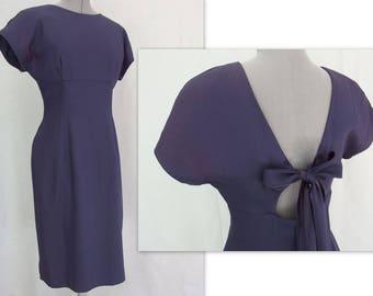 Vintage Navy Blue Party Dress, Modern Size 6