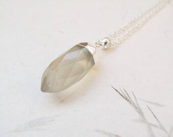 Jade necklace, gemstone necklace, healing stone necklace, yoga necklace