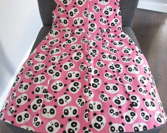 Fun panda print dress for toddler