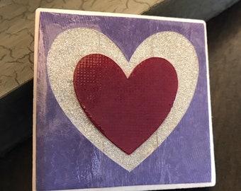 Heart Tile Magnets