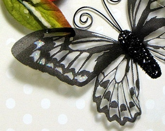 Glass Butterfly Embellishments G10