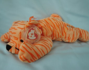 Ty Pillow Pal Purr/Plush Ty Animals/Striped Stuffed Animals