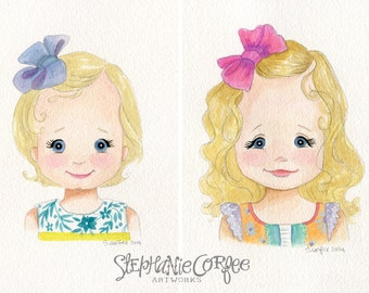 Personalized Watercolor Painting- for Leslie