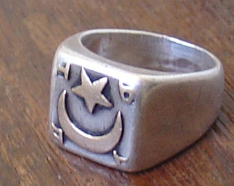old tribal silver ring