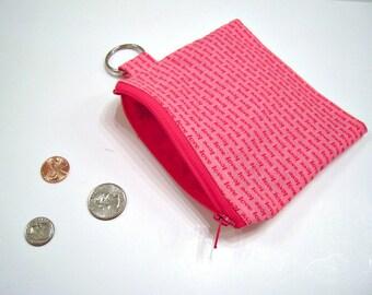 Münze Tasche in rosa und rote Liebe