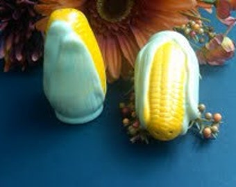 Corn Salt and Pepper Shakers, Vintage Ceramic on Etsy