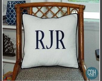 Large Font Monogram Pillow Cover - 18 x 18 square