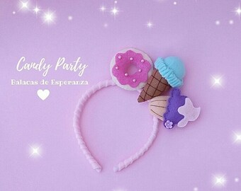 Headband Candy/Birthday Packages/Candy Party/Party Pack/Candy