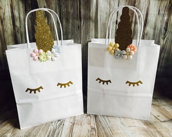Unicorn party loot bags, party favors, party boxes goodie bags