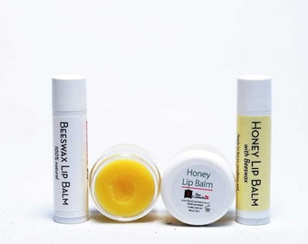 Lip Balms with beeswax, shea and cocoa butter, lip salve, natural lip moisturiser for chapped lips