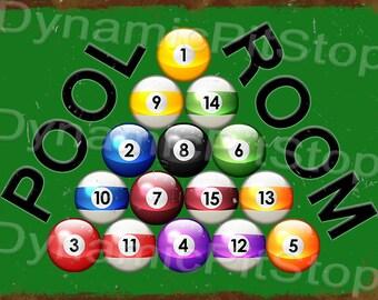 40x30cm Pool Room Tin Sign