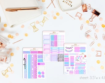 Moonstone Darlings MINI Weekly Kit // 130+ Matte Planner Stickers // Perfect for your Personal Planner // WKM0700