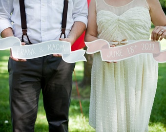 Set of 4 Custom Large Banner No. 2 Wedding Photo Prop