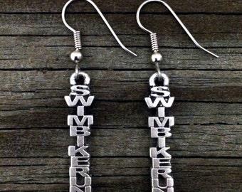 Triathlon Swim Bike Run Earrings | Tri Earrings | Swim Bike Run Jewelry | Triathlete | Triathlete Gift | Tri Gifts | by Treasure Cast Pewter