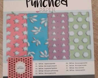 Paper punches punched paper 13 x 13cm 4 model different 24 sheets