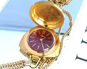 "GORGEOUS Vintage women's pendant / necklace watch called ""ZARIA"". This lovely pendant watch would be great  gift idea for her!"