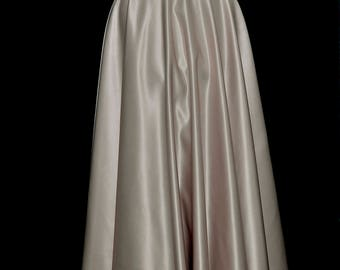 Champagne duchess satin Skirt size 12-14 ladies .. formal wear... weddings... bridesmaids... holiday
