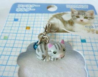 RJ102: Kitten keychain,Omamori talisman keychain,Japanese ShintoShrine lucky charm with bell