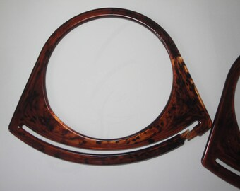 New 70s bag handles pair