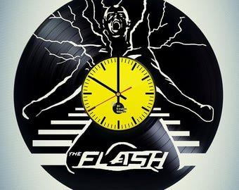 The Flash Vinyl Record Wall Clock Home Decor