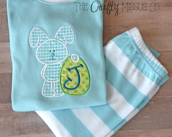 Easter Boy Pajamas-Easter Bunny Pajamas-Easter Boy pjs--Easter gift for boy-Matching Easter Pajamas-Boy Pajamas-Easter present