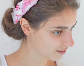 Natural linen headband, linen headband adult, linen adult headband woman, linen yoga headband, linen pilates headband, linen hair accessory