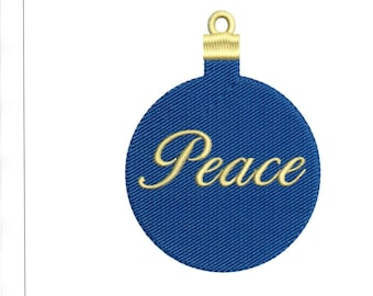 Embroidery Designs Christmas Ornament Peace Ornament