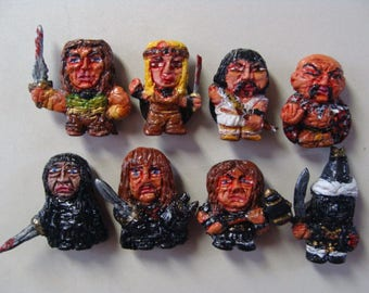 The Cimmerian Barbarian  Refrigerator Magnet sets A and B (The Heroes and The Villains,Fullbody/Cutie Style)