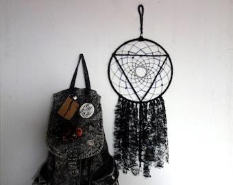 El cazador de sueños | geométrica, negro, hippie, duro, regalo de la decoración, de la pared