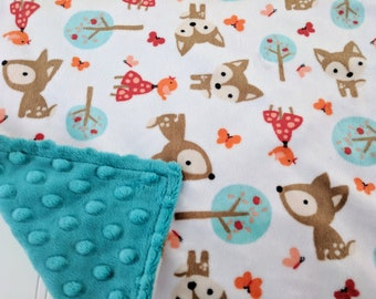 Deer Minky Lovey, Minky Lovie, Minky Lovey, Woodland Baby Shower, Woodland Baby Lovie, New Baby Gift, Deer Baby Shower, Deer Nursery