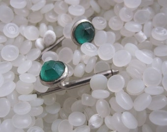 amazing vintage cuff links tiny green dots, emerald green, groom gift,