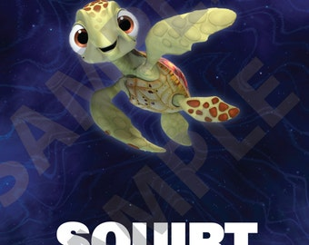 Finding Dory Wall Art, Squirt, 8x10, DIGITAL FILE