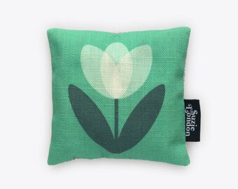 White Tulip Lavender Bag in Mint