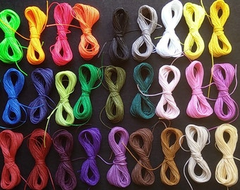 150 meters of waxed thread, macrame polyester wax (1 mm thick) HIGH QUALITY